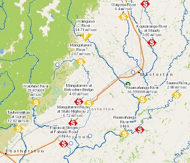 River levels and rainfall mapping - Wellington Region